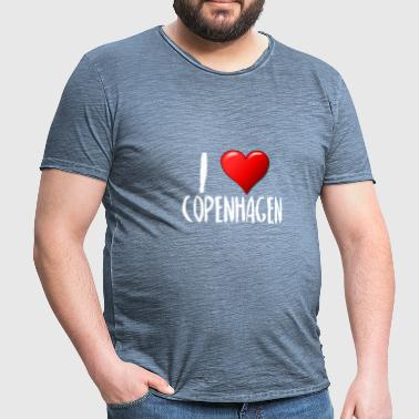 I Love Copenhagen - Men's Vintage T-Shirt