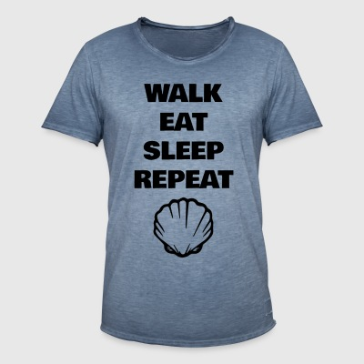 Walk Eat Sleep Repeat - Männer Vintage T-Shirt