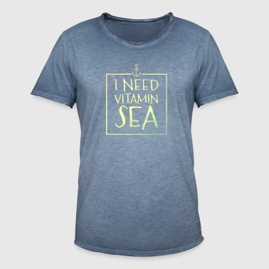 I Need Vitamin Sea - Männer Vintage T-Shirt