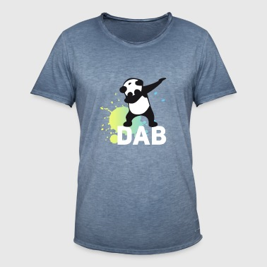 dab splatter panda dabbing touchdown fun cool danc - Men's Vintage T-Shirt