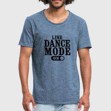 LINE DANCE MODE, ON - Men's Vintage T-Shirt