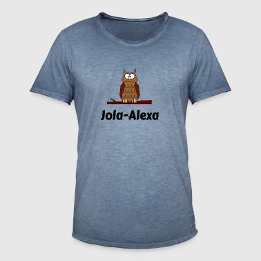 Kids School Born Owl Motif Jola Alexa - Men's Vintage T-Shirt