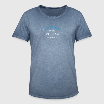 Original 100% William, gave - Vintage-T-skjorte for menn