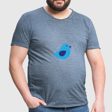 Blue Bird - Männer Vintage T-Shirt