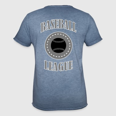 Baseball League - Vintage-T-skjorte for menn
