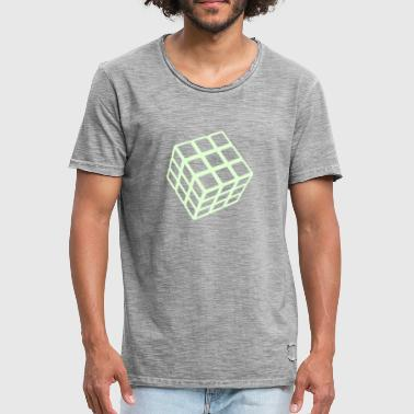 Glow Dark Rubik's Cube Glow In The Dark - Men's Vintage T-Shirt