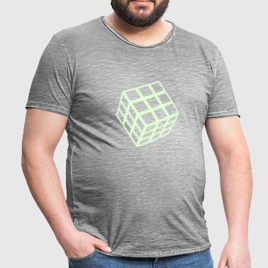 Rubik's Cube Glow In The Dark - Camiseta vintage hombre