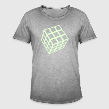 Rubik's Cube Glow In The Dark - Vintage-T-skjorte for menn