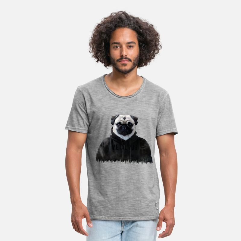 Metal Pug Manner Vintage T Shirt Spreadshirt