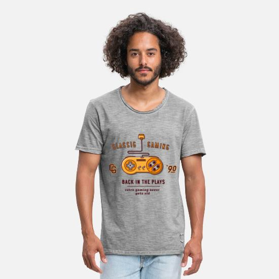 Gaming T-Shirts - classic gaming - Mannen vintage T-shirt vintage grijs