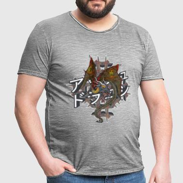 Ash Dragon - Vintage-T-skjorte for menn