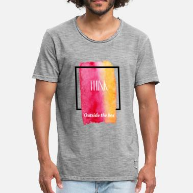 Think Outside The Box Think outside the box - T-shirt vintage Homme
