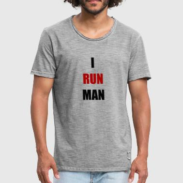 I RUN MAN - Männer Vintage T-Shirt