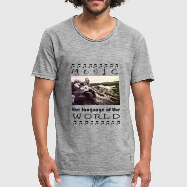 Music, guitar, world, rock, musicians - Men's Vintage T-Shirt