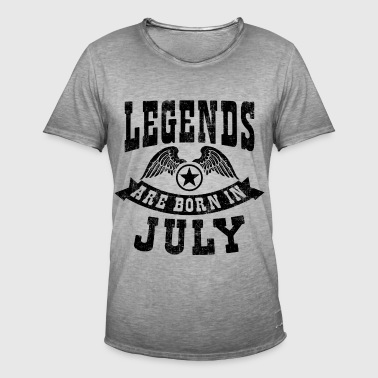 Legend Are Born in July - Männer Vintage T-Shirt