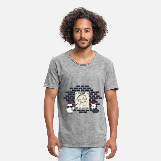 Gaming T-Shirts - The Legend Of Chicks - Men's Vintage T-Shirt vintage gray