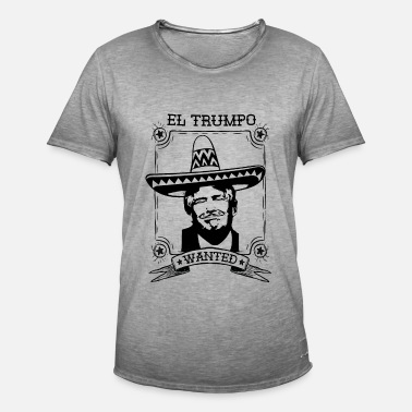 Anti Republicano Anti Trump Mexico Sombrero Mustache USA Regalo - Camiseta vintage hombre