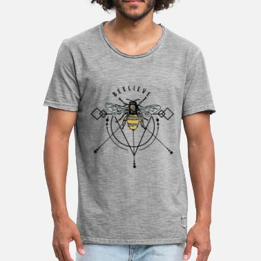 Honeycomb Bee wasp hornet honeycomb swag gift idea - Men's Vintage T-Shirt