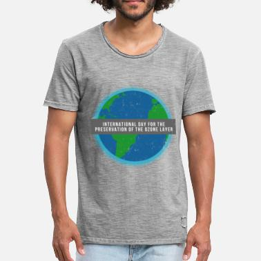 Ozone Ozone climate change memorial day rainforest environmental protection - Men's Vintage T-Shirt