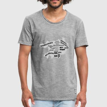 District Heidelberg district en districten Black Edition - Mannen Vintage T-shirt