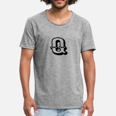 Letters Of The Alphabet Q - Men's Vintage T-Shirt