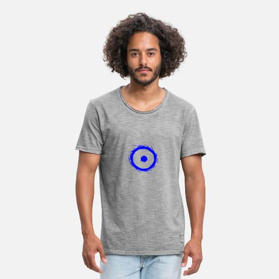 Symbol  T-Shirts - Alchemy symbol sun (gold) blue - Men's Vintage T-Shirt vintage gray