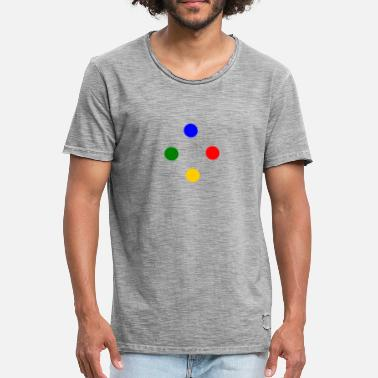 Snes SNES buttons - Men's Vintage T-Shirt