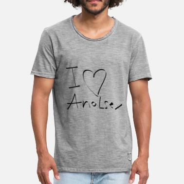 I Love Anal I love anal sex anal assfuck - Men's Vintage T-Shirt