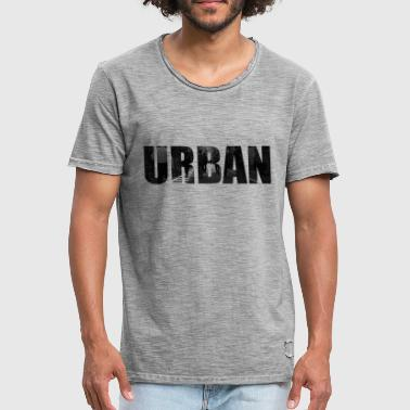 URBAN - Vintage-T-skjorte for menn