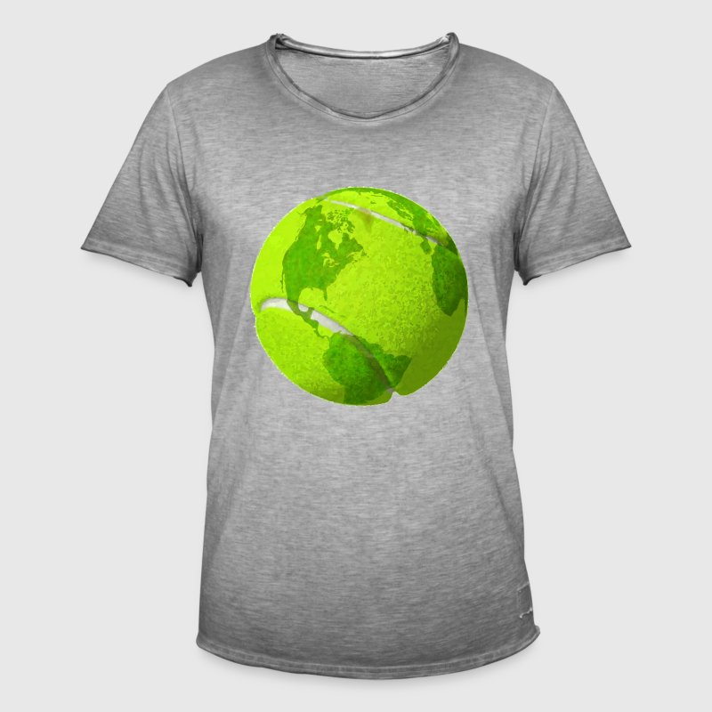 tennis ball planet earth globe tennis ball earth - Men's Vintage T-Shirt