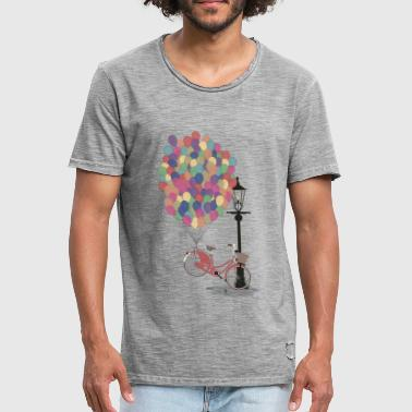 Love to Ride my Bike with Balloons - Männer Vintage T-Shirt