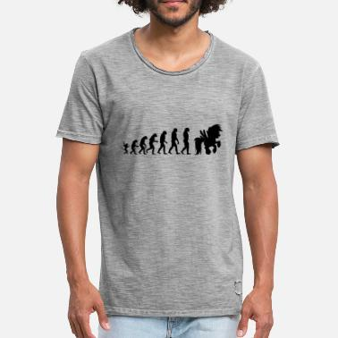 Evolution Horses Horse evolution - Men's Vintage T-Shirt