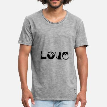 Alphabet chat d'amour - T-shirt vintage Homme
