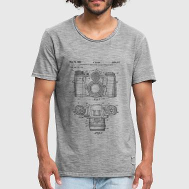 Vintage camera - drawing of an old camera - T-shirt vintage Homme