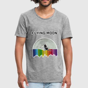 Moon Dance Flying Moon - Music Dance - Men's Vintage T-Shirt