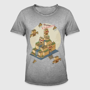 vintage game - Vintage-T-skjorte for menn