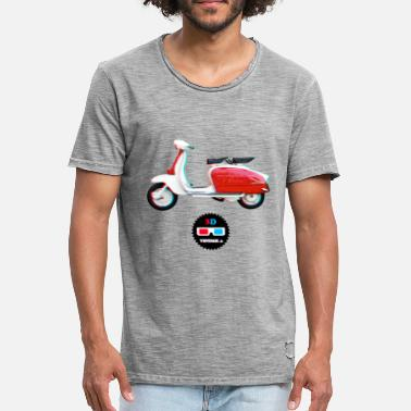 Collections Vintage - Lambretta 3D - Vintage-T-skjorte for menn