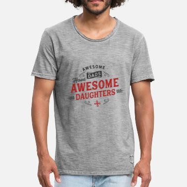 Dad Awesome Dads Awesome Daughters, père et fille - T-shirt vintage Homme