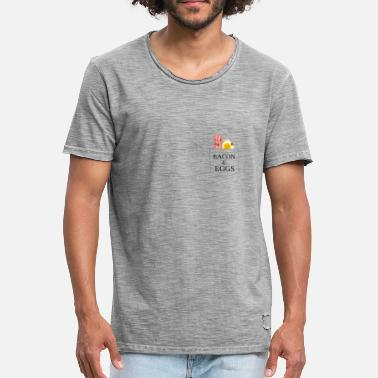 Bacon Egg Ham and eggs Bacon Eggs - Men's Vintage T-Shirt