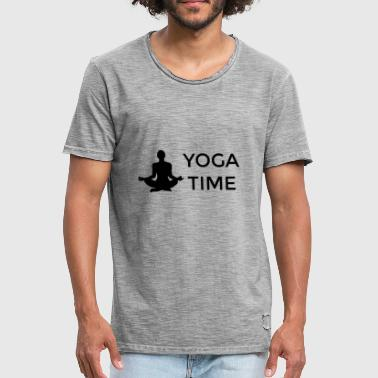 Bikram Yoga Yoga gift saying meditation Hatha Yin Bikram - Men's Vintage T-Shirt
