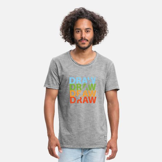 Gift Idea T-Shirts - To draw - Men's Vintage T-Shirt vintage gray