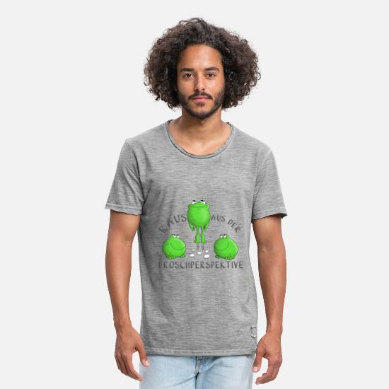 Gift Idea T-Shirts - Motivation frog - Men's Vintage T-Shirt vintage gray