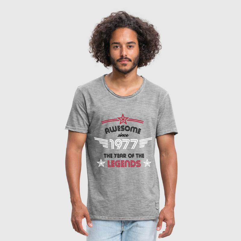 Awesome since 1977 - Männer Vintage T-Shirt