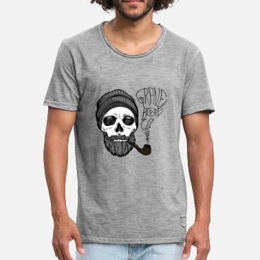 Vollbart Grave before shave - beard design - 100% Bart - Männer Vintage T-Shirt