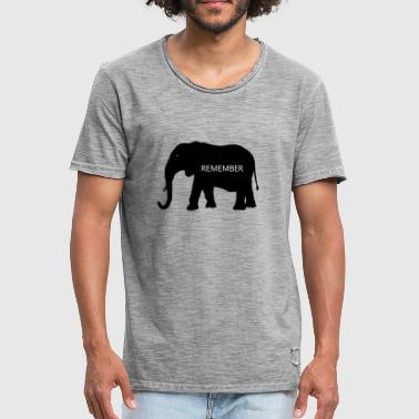 Collection Elephant - T-shirt vintage Homme