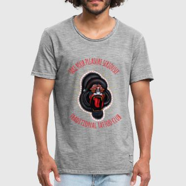 traditionele tattoo clubgorilla - Mannen Vintage T-shirt