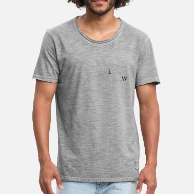 Black Water Land en Water - Mannen Vintage T-shirt