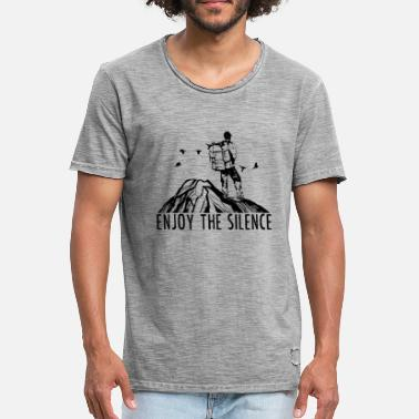 Silence Enjoy The Silence - Wandern Outdoor Natur Berge - Männer Vintage T-Shirt