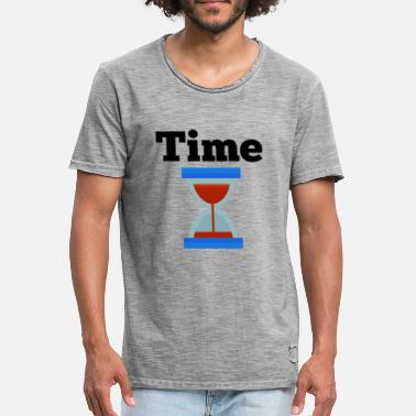 No Time Time Time Hourglass Clock Time - Camiseta vintage hombre