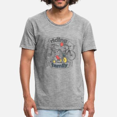Bikes riding family - Männer Vintage T-Shirt